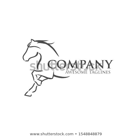 Horse silhouette, simple black icon Stock photo © evgeny89