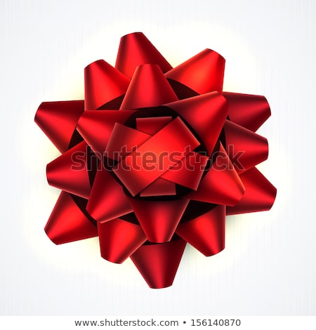 Bright realistic red bow tie on white Stock photo © evgeny89