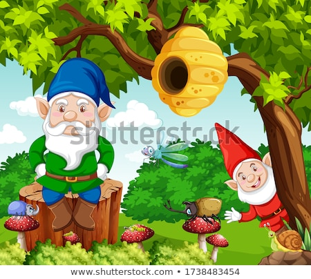 Plaster miodu drzewo cartoon stylu lasu ilustracja Zdjęcia stock © bluering