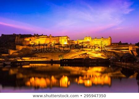 Amer Fort (Amber Fort) at night in twilight. Jaipur, Rajastan, Stock photo © dmitry_rukhlenko