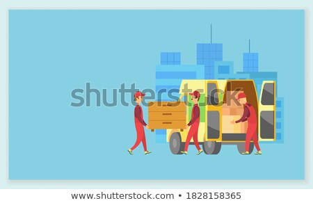 People Carrying Wooden Furniture Chest of Drawers Stock photo © robuart
