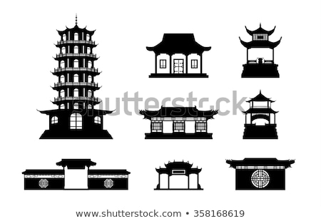 chinese temple decorate stock photo © ansonstock