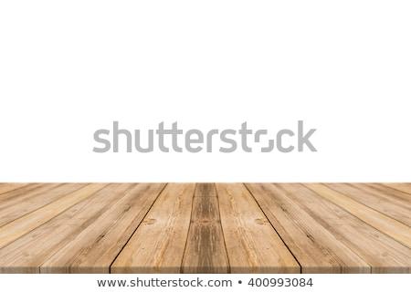 Houten tafel montage display producten witte Stockfoto © artjazz