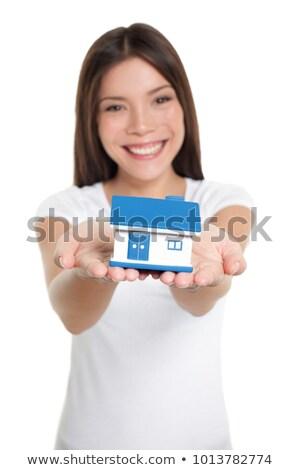 Home eigenaar eerste huis klein Stockfoto © Maridav