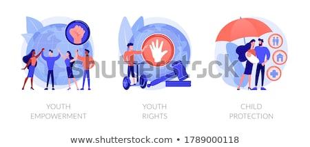 Juventude direitos abstrato libertação jovens proteção Foto stock © RAStudio