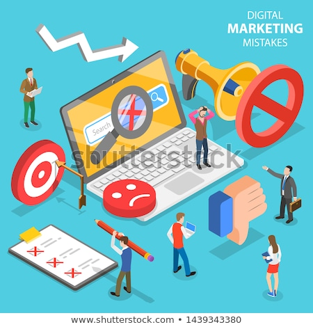 Wrong Plan isometric icon vector illustration Stock photo © pikepicture