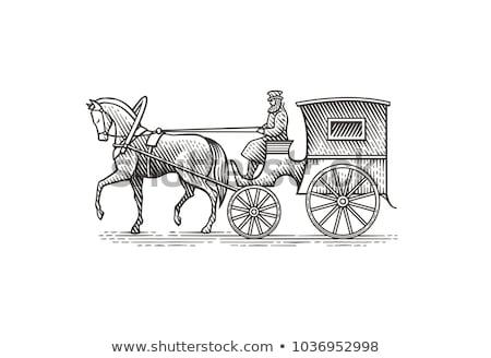 ストックフォト: ヴィンテージ · 一人乗り二輪馬車 · 動物 · タクシー · 美しい · ウイーン