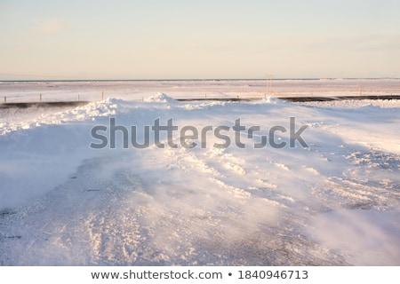 冬 雪 輸送 タクシー 交通 通り ストックフォト © Vividrange