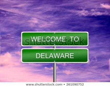 Delaware znak autostrady zielone USA Chmura ulicy Zdjęcia stock © kbuntu