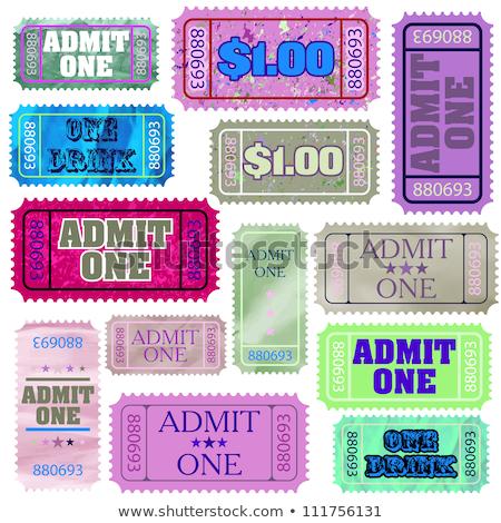 Set of ticket admit one. EPS 8 Stock photo © beholdereye