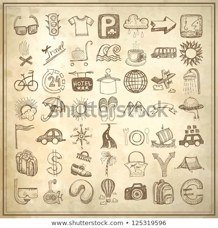 Set of grunge weather hand drawing icons Stock photo © orson