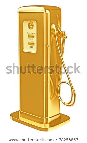Valuable fuel: golden petrol pump isolated Stock photo © Arsgera