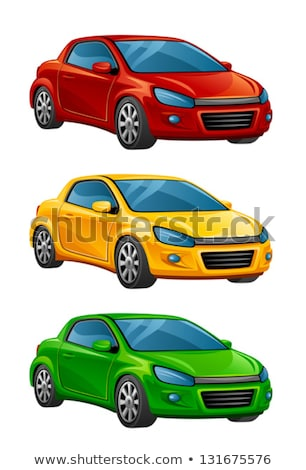 Yellow toy car coupe Stock photo © mybaitshop