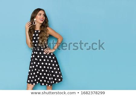 ファッショナブル · 女性 · 美しい · 黒 · カクテルドレス · ハイヒール - ストックフォト © nyul