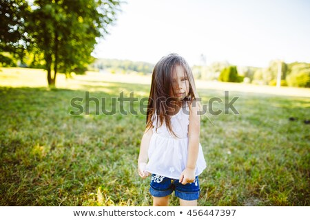 Boy and girl sat with globe Stock photo © photography33