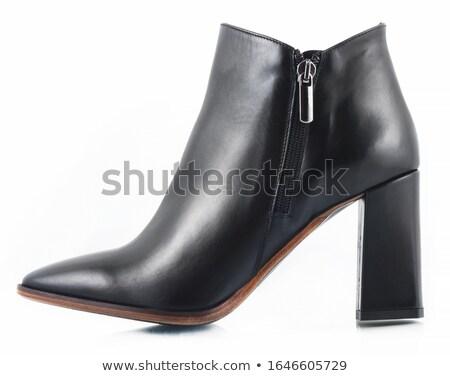white woman boots isolated on white background stock photo © ozaiachin