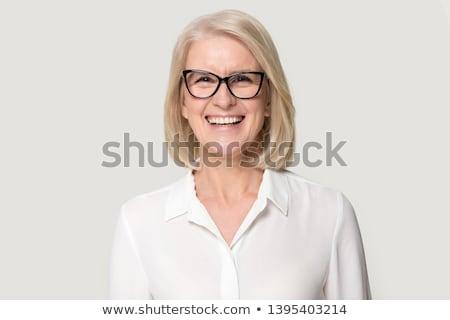 女性 · ビジネス · 執行 · ポーズ · コピースペース · 孤立した - ストックフォト © stockyimages