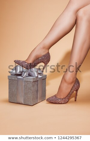 high heels and silver gift box Stock photo © restyler