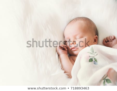 new born baby girl sleeping stock photo © tish1
