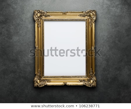 golden empty frames in museum interior space stock photo © victoria_andreas