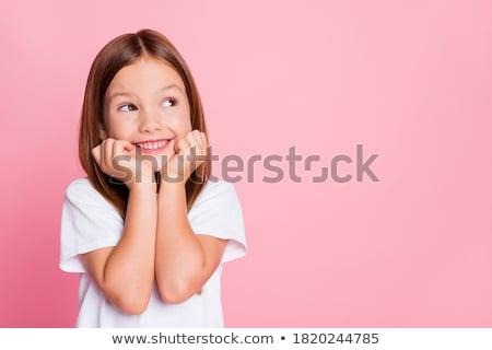 Meisje meisje school haren home Maakt een reservekopie Stockfoto © photography33