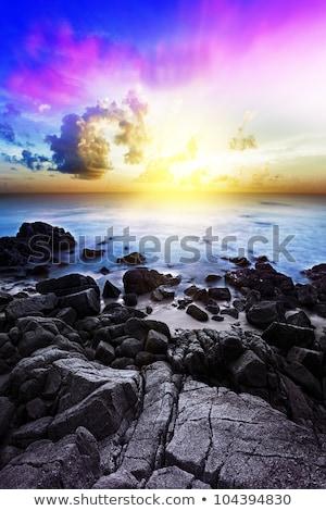 costa · puesta · de · sol · la · exposición · a · largo · tiro · cielo · noche - foto stock © moses