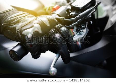 Freno motocicleta moto velocidad motor transporte Foto stock © njaj