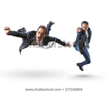 бизнесмен прыжки радости туго натянутый канат небе лице Сток-фото © photography33