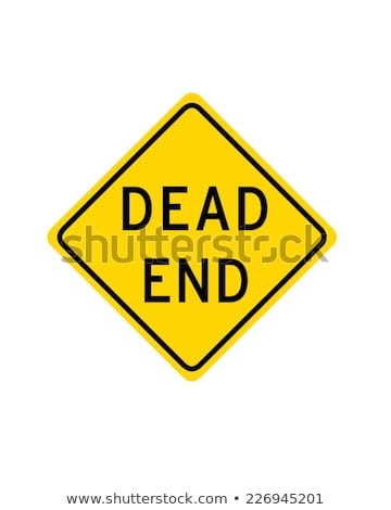dead end yellow warning road sign closed no exit stock photo © iqoncept