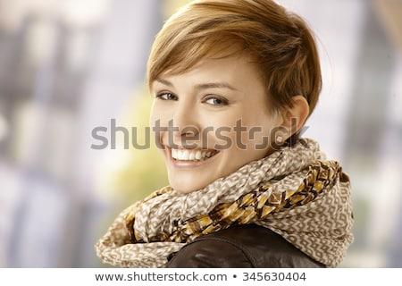 профиль красивая женщина короткие волосы портрет короткий брюнетка Сток-фото © lubavnel