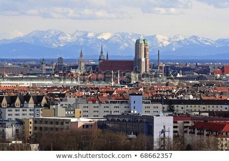 Munique ver alpes vento cidade neve Foto stock © haraldmuc