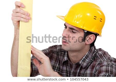 Kereskedő minőség fa építkezés munka munkás Stock fotó © photography33
