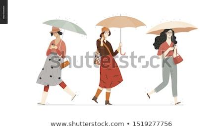 silhouet · vrouw · decoratief · textuur · abstract - stockfoto © carodi