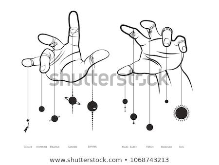 Kéz láthatatlan szalag egészalakos ázsiai férfi Stock fotó © szefei