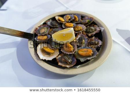 Grillezett citrom hagyományos edény étel tenger Stock fotó © simas2