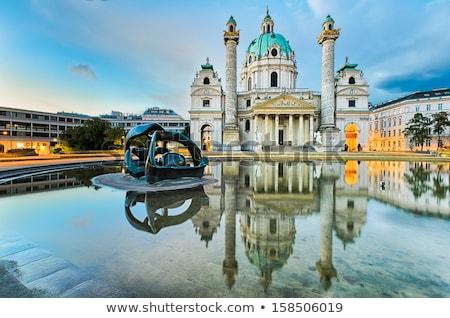 Viena · Áustria · manhã · nascer · do · sol · piscina · urbano - foto stock © franky242