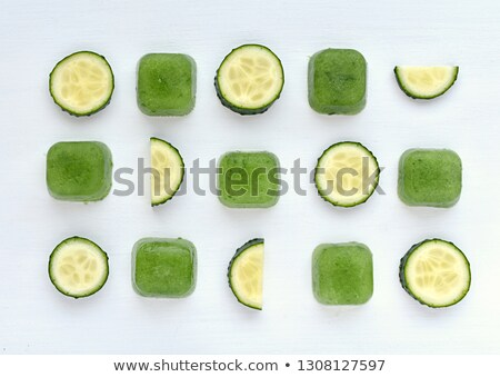 Ice cube and cucumber stock photo © Givaga