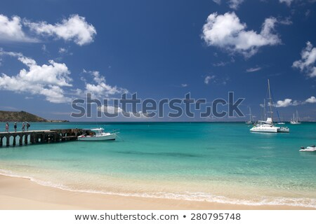 Beach at Grand Case in St Martin Caribbean Stock photo © backyardproductions