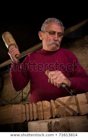 travaux · atelier · vieux · main · bois · construction - photo stock © ra2studio