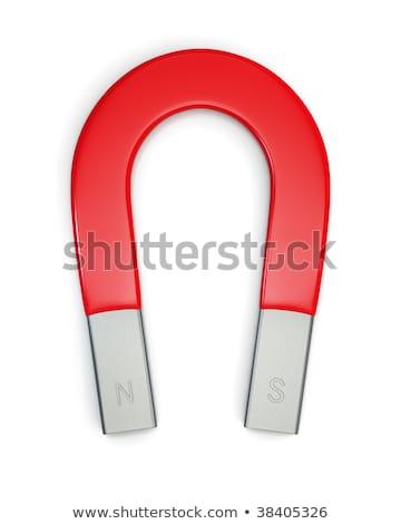 Large horseshoe magnet isolated on white. Stock photo © shutswis