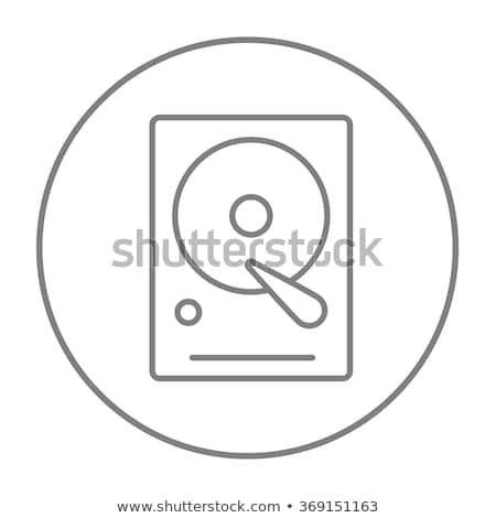 hard disk in hand isolated on a white background Stock photo © Zhukow