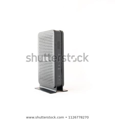 Router bianco telefono internet tecnologia web Foto d'archivio © shutswis