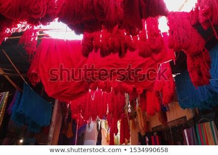 Marrakesh Red wool drying stock photo © rmarinello