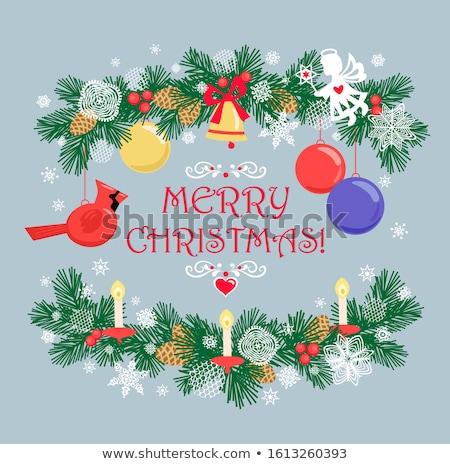 vector lacy snowflake christmas decoration Stock photo © butenkow