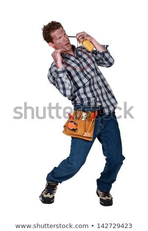 Elektrikçi elektrik şok adam arka plan Stok fotoğraf © photography33