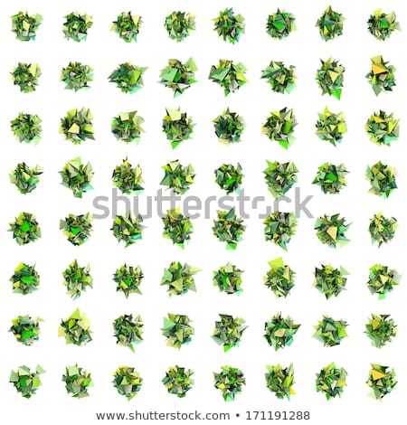 abstract fragment green spiked shape on white Stock photo © Melvin07