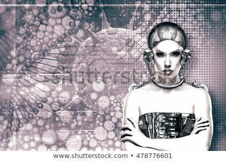Adulto pretty woman ritratto pelle texture Foto d'archivio © tolokonov