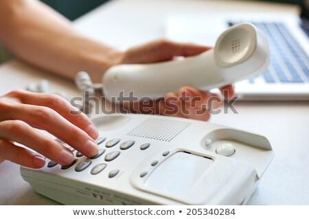 Laptop oude telefoon bellen klein scherm Stockfoto © Mikko