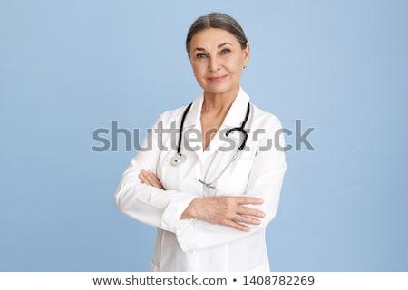 Női orvos sztetoszkóp sürgősségi ellátás világítás fókusz Stock fotó © RazvanPhotography
