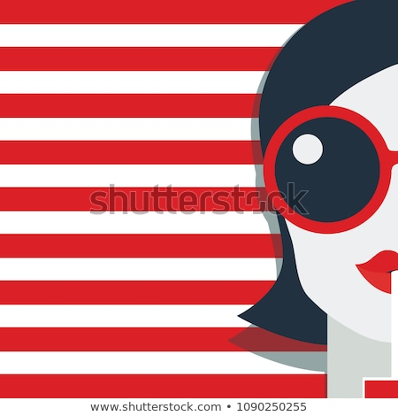 Hot red lips. Vector illustration. stock photo © Glenofobiya